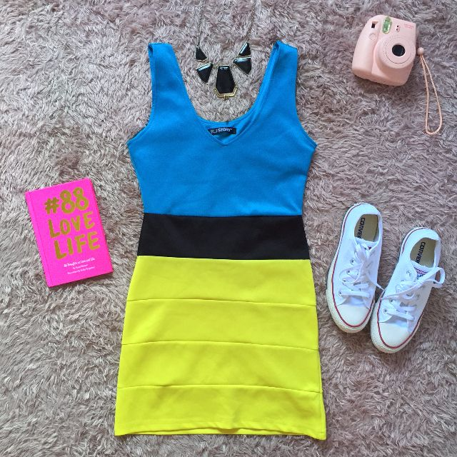 Color Blocking Bodycon Dress