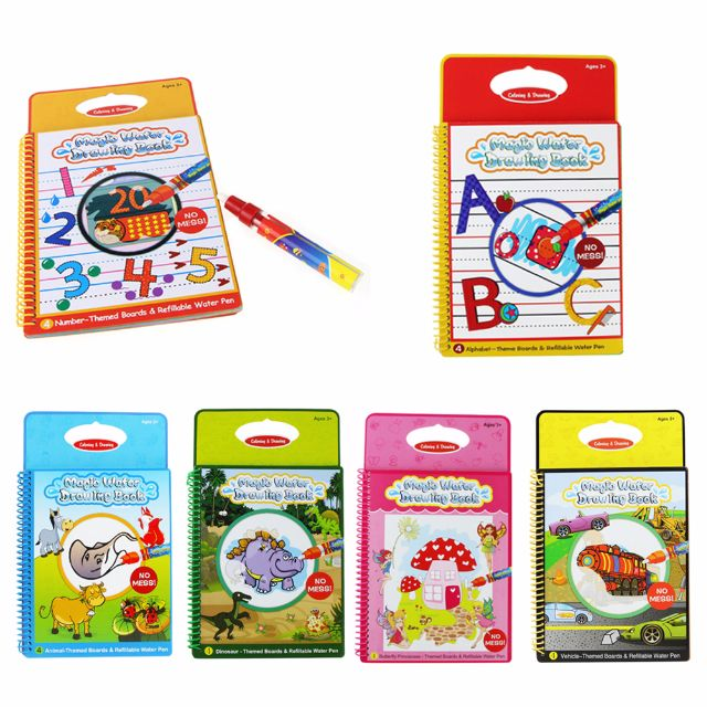 Colors Magic Water Drawing Book Coloring Doodle With Pen