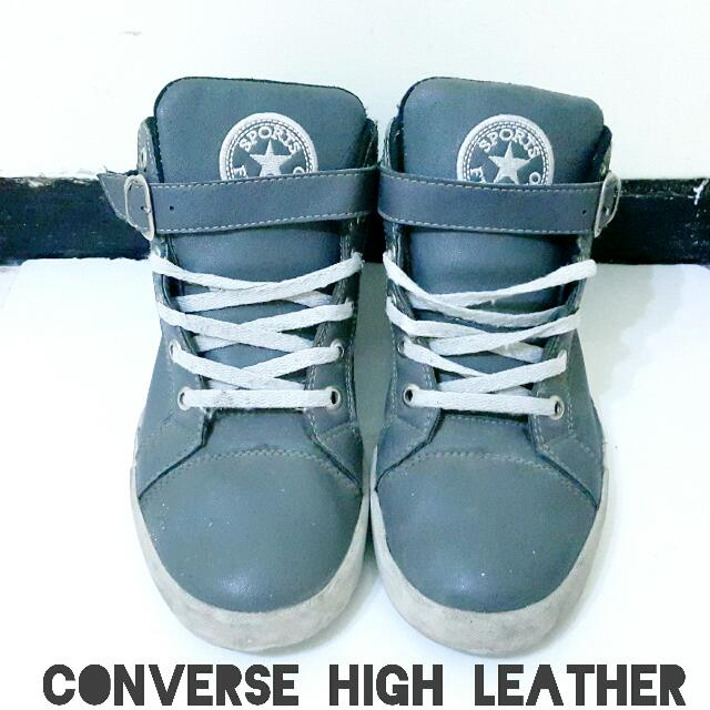 CONVERSE STAR LEATHER HIGH [DEEP GRAY]