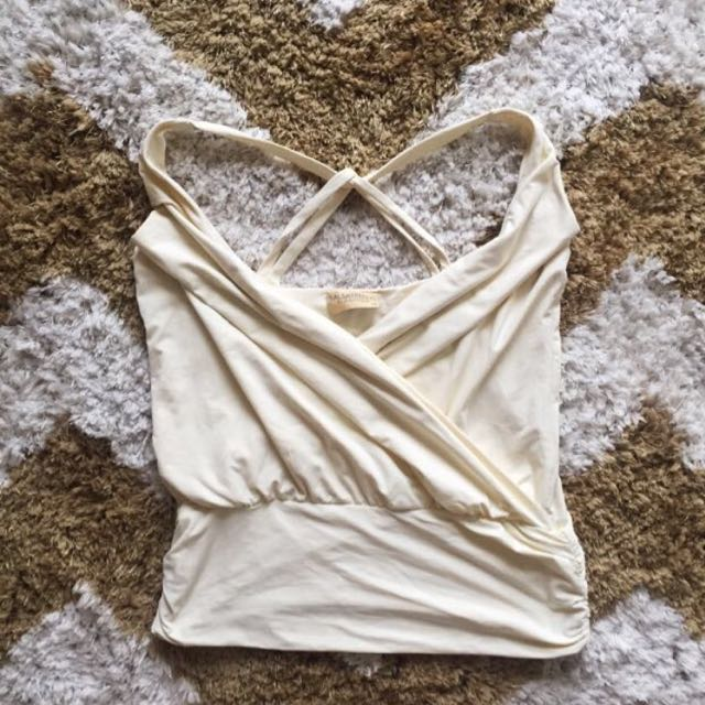Cream Party Top