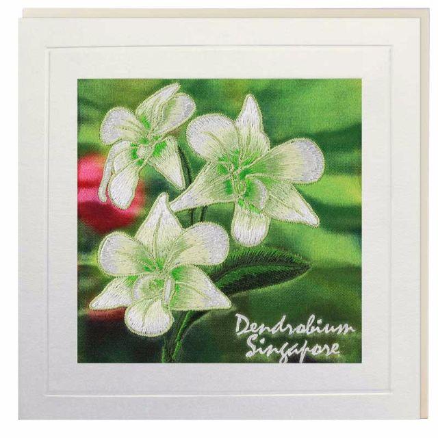 Dendrobium Singapore Greeting Card