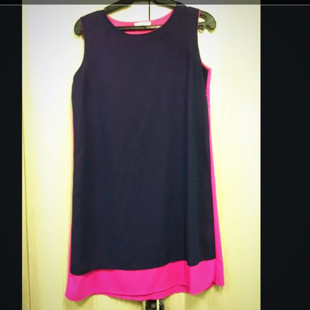 Dual Color Sleeveless dress