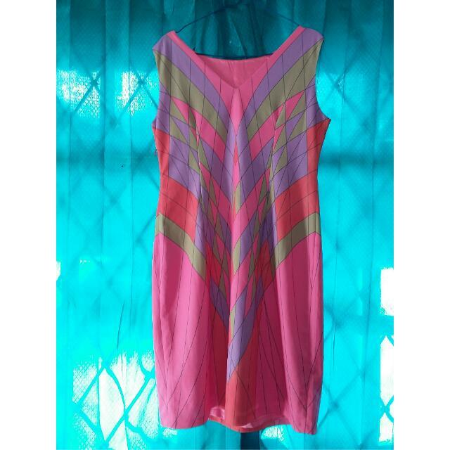 Elle Pink Mozaik Dress