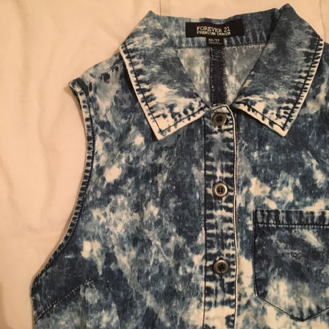 Forever 21 Premium Denim Top