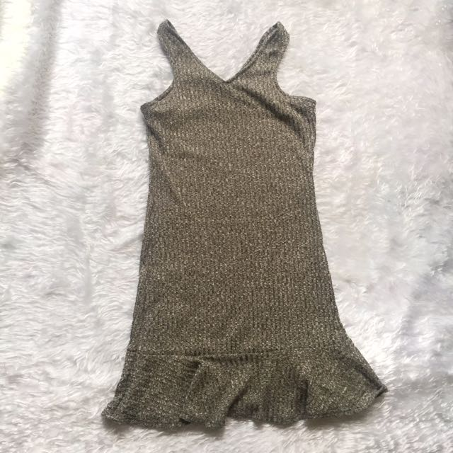 Gray Knitted Dress
