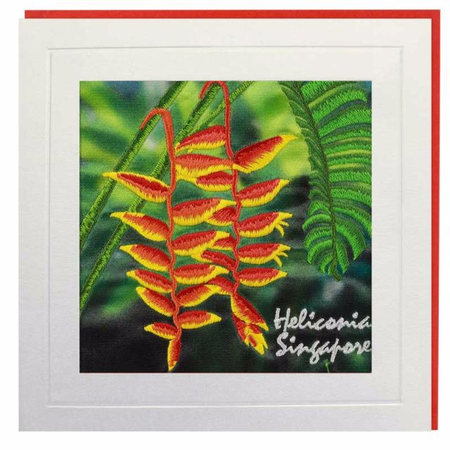Heliconia Singapore Greeting Card
