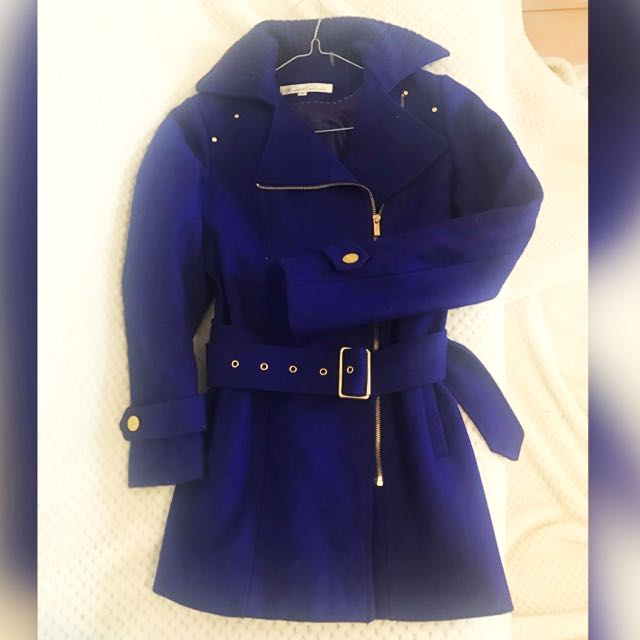 Kenneth Cole Reaction Coat in Blue / Lapis