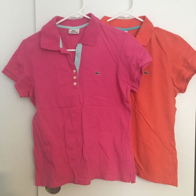 Lacoste Polos Women (pink/orange)