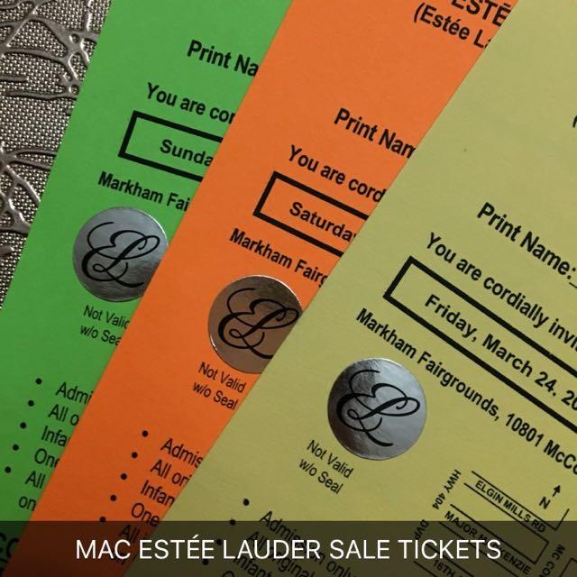 Mac Estée Lauder Sale Tickets