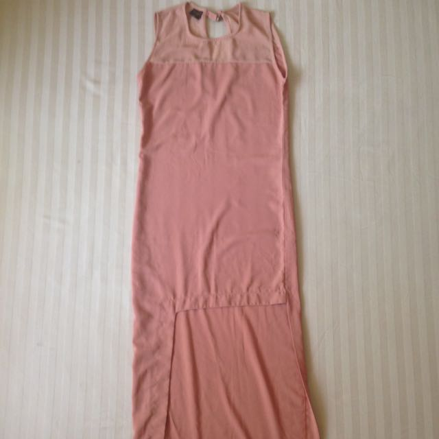 Mags salmon dress