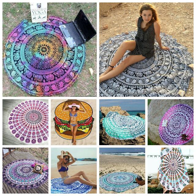 Mandala Beach Towel