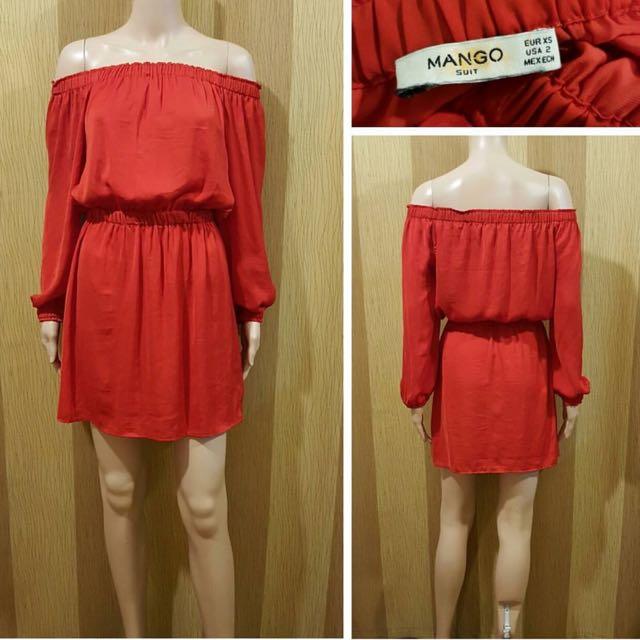 Mango Off Shoulder Dress
