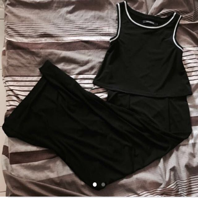 Maxi Dress W Slit Folded N Hung