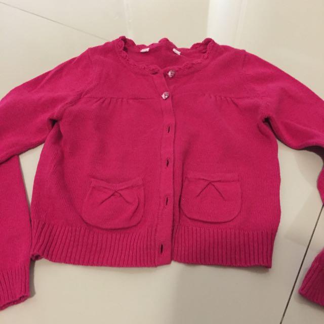 mothercare pink cardigan