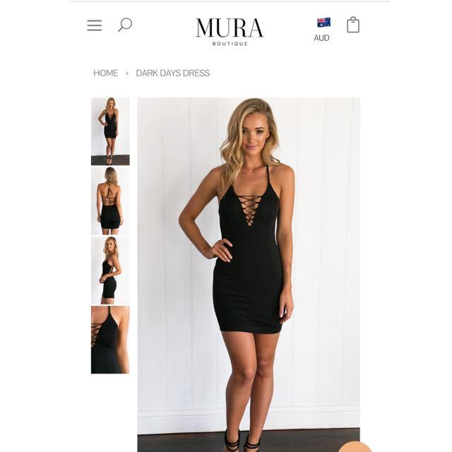 Mura Boutique Dark Days Dress Size 12