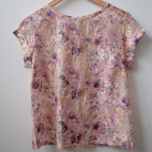 New Look Pink Floral Shirt Casual