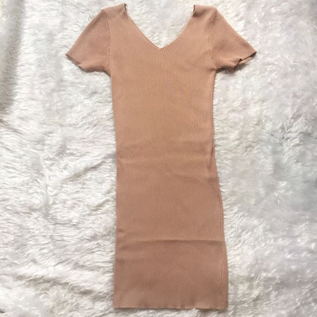 Nude Knitted Dress