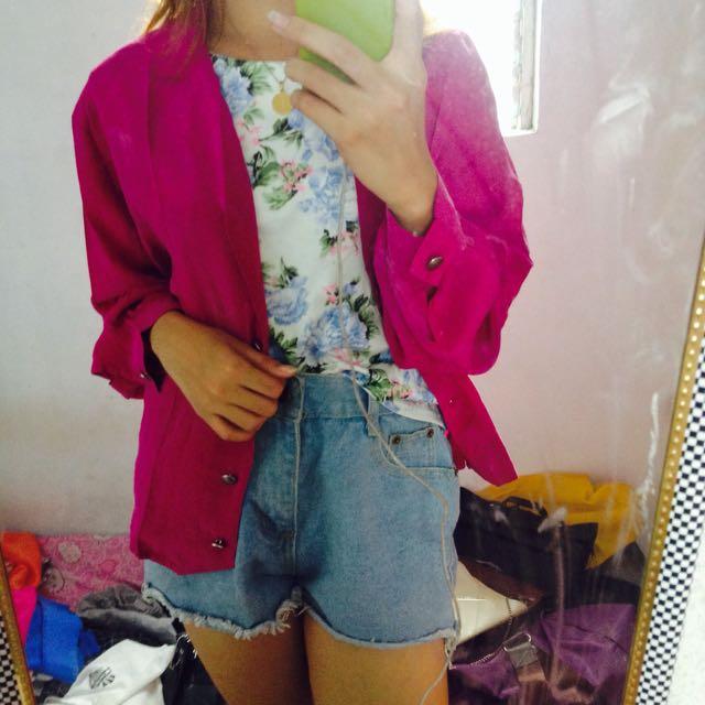 Pink flowy coat