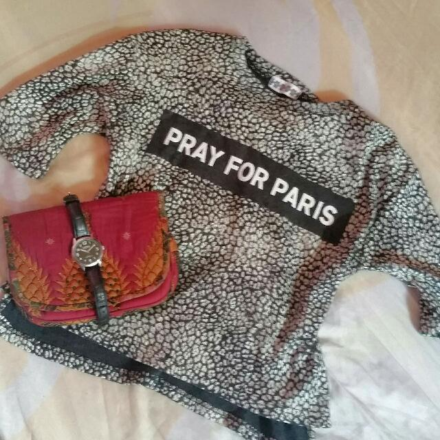 Pray for paris Top