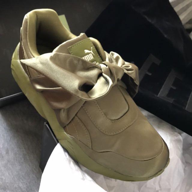 super popular 53a74 d0860 Puma X Rihanna's Fenty Sneakers Olive UK 4