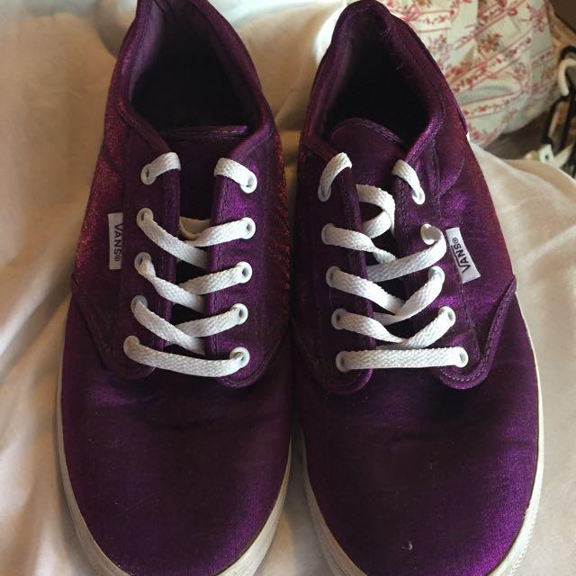 Purple Satin VANS
