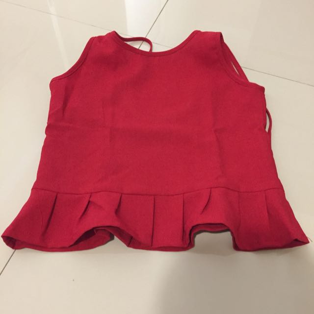 red sexy top for girl