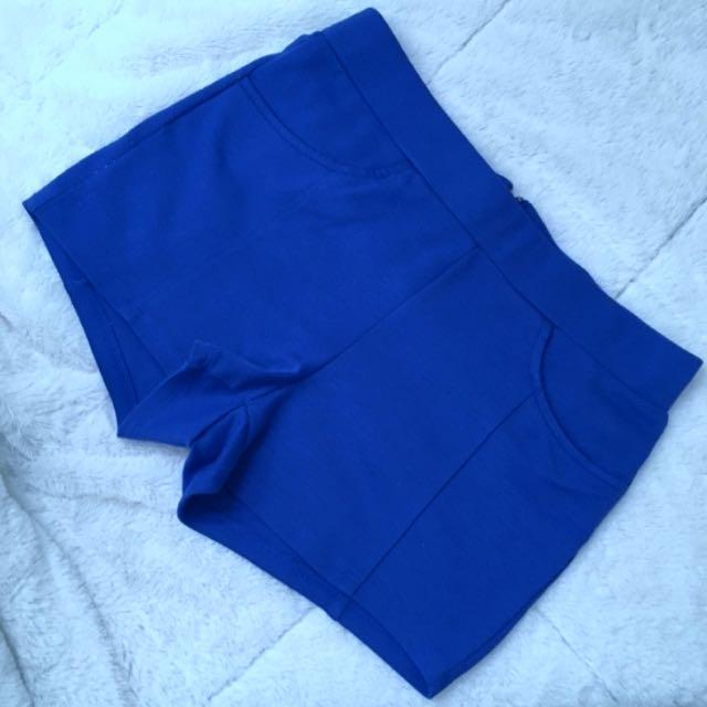 Womens Royal blue Shorts