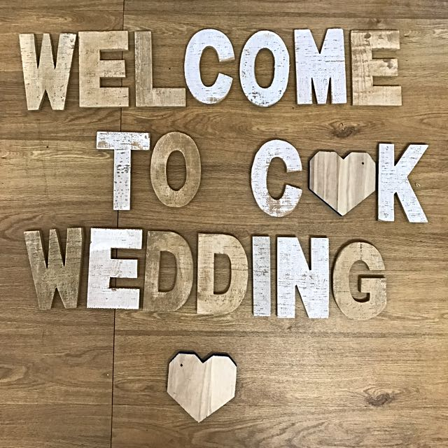 Rustic Style Wooden Letters
