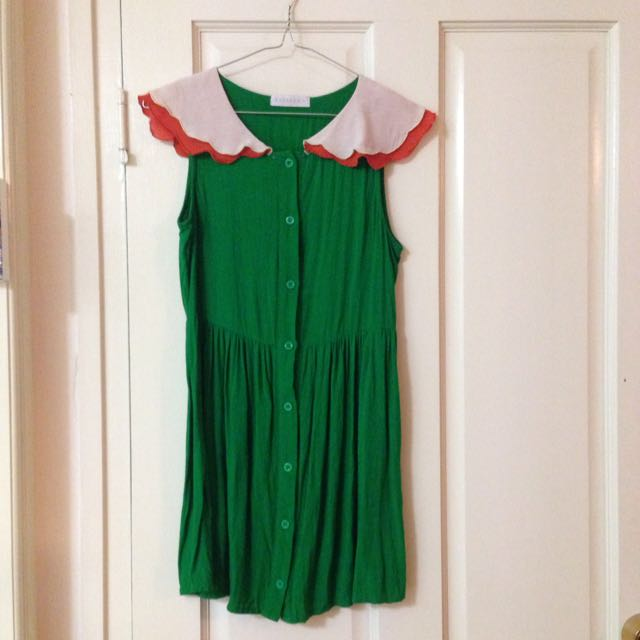 Size 6 Green Mini Dress