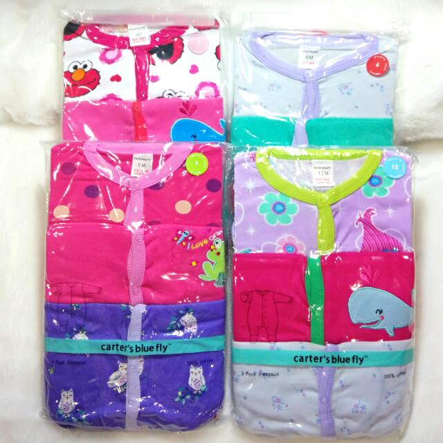Sleepsuit Carter Tutup Kaki Girl 3 In 1