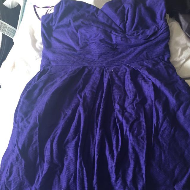 Strapless Stretch Cotton Dress