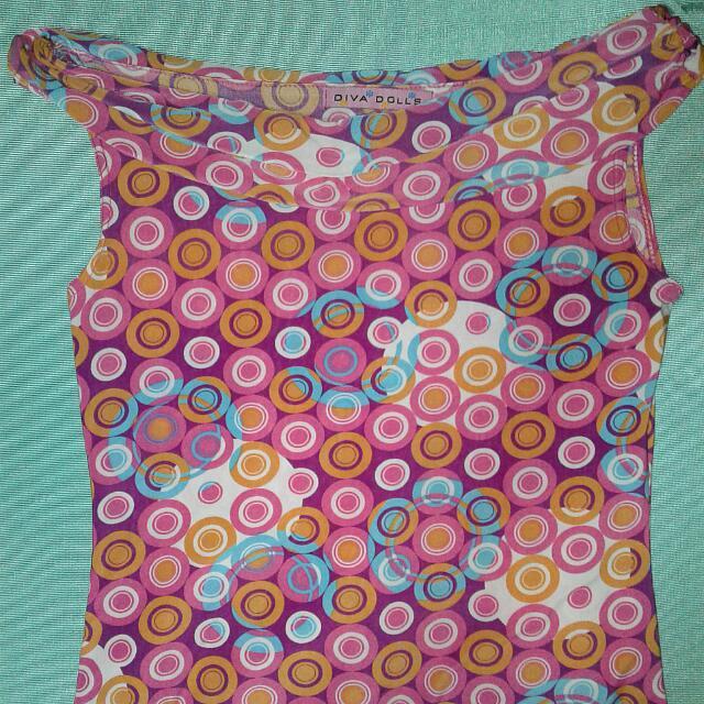 Swirls Sleeveless Blouse - Fuchsia Pink