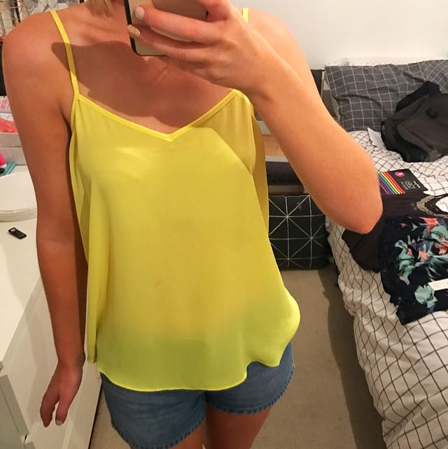 Topshop Yellow Camisole