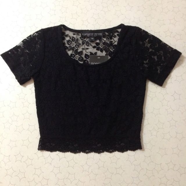 U.K. Size 4 Black Lace Crop
