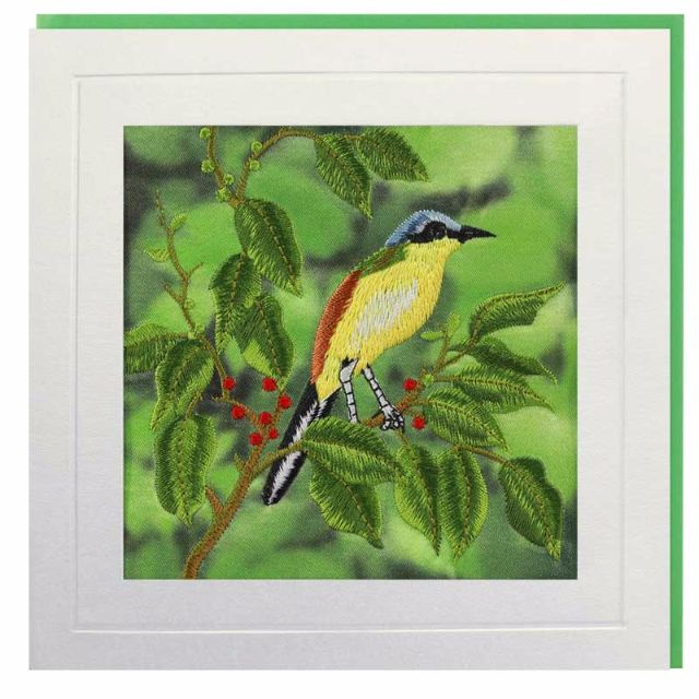 Wagtail Berries Greeting Card