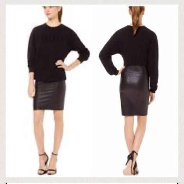 Wilfred Aritzia Faux Leather Skirt