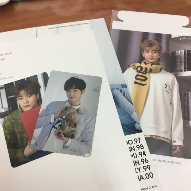 [WTT/WTS] ASTRO WINTER DREAM PHOTOCARDS AND MJ STANDEE