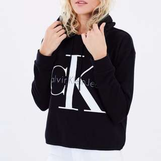 NEW: 90s Cropped Hoodie by Calvin Klein Jeans RRP $119.95 SIZE XS