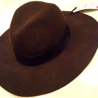 NWT Zara Brown Wool Hat
