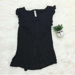 Black Knitted Rajut Hitam