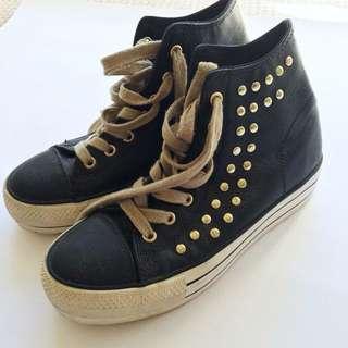 Black High Top Shoes