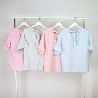 212 Backtie ruffle hand IDR 90,000 Available in pink grey peach blue  material :  katun LD : 86-90 cm  Length : 60 cm