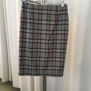 Grey Plaid Skirt Lucian Matis