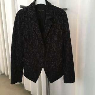 Black Lace Blazer Lucian Matis