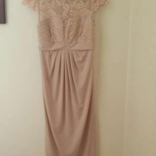Asos Pink Lace Maternity Dress