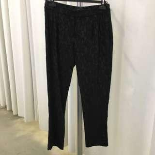 Black Lace Pants Lucian Matis