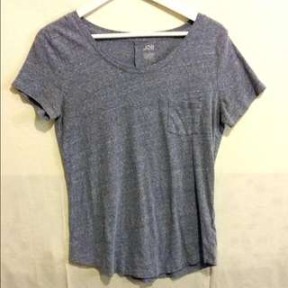 JOE FRESH Soft Blue Grainy Tee