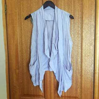 Unbranded Waterfall Vest In Dover Grey