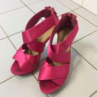 Pink Heels Size 7