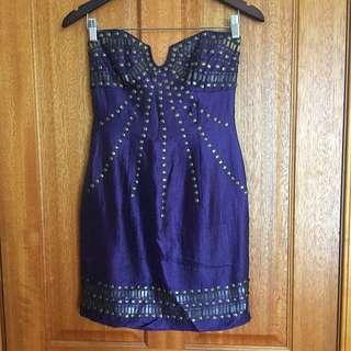 Ladakh Strapless Cocktail Dress Size 8